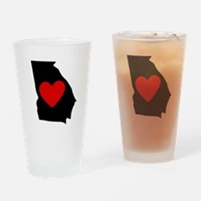 Georgia Heart Drinking Glass