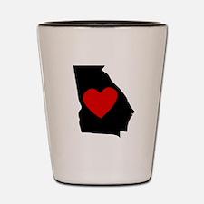 Georgia Heart Shot Glass