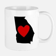 Georgia Heart Mugs