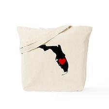 Florida Heart Tote Bag