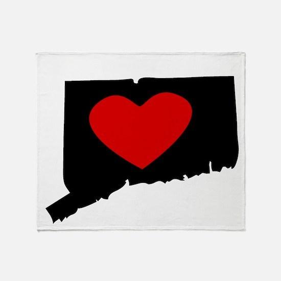 Connecticut Heart Throw Blanket