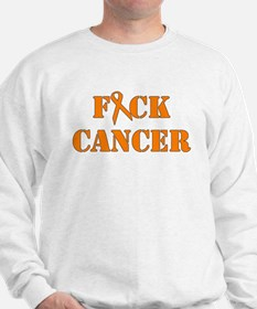 F*ck Cancer Orange Sweatshirt