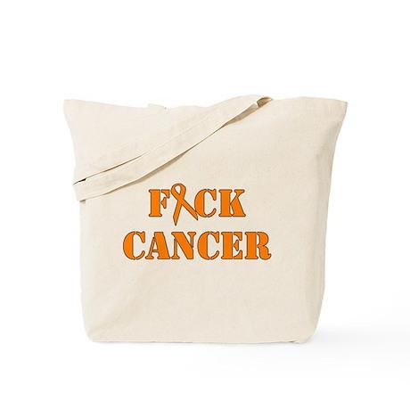 F*ck Cancer Orange Tote Bag