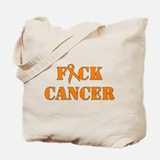 F*ck Cancer Orange Tote Bag