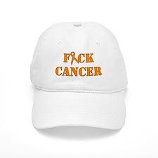 F*ck Cancer Orange Baseball Baseball Cap