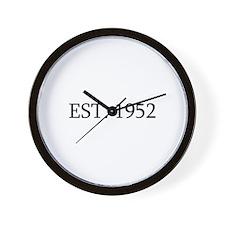 Est 1952 Wall Clock