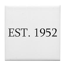 Est 1952 Tile Coaster