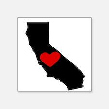 California Heart Sticker
