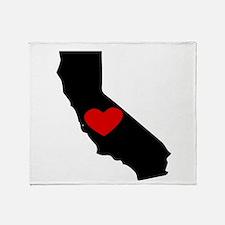 California Heart Throw Blanket