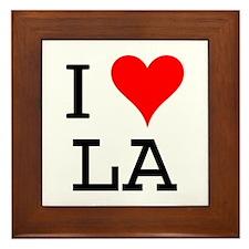 I Love LA Framed Tile
