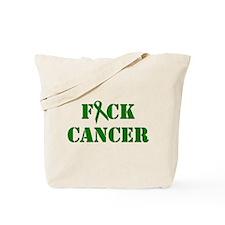F*ck Cancer Green Tote Bag