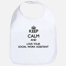 Keep Calm and Love your Social Work Assistant Bib