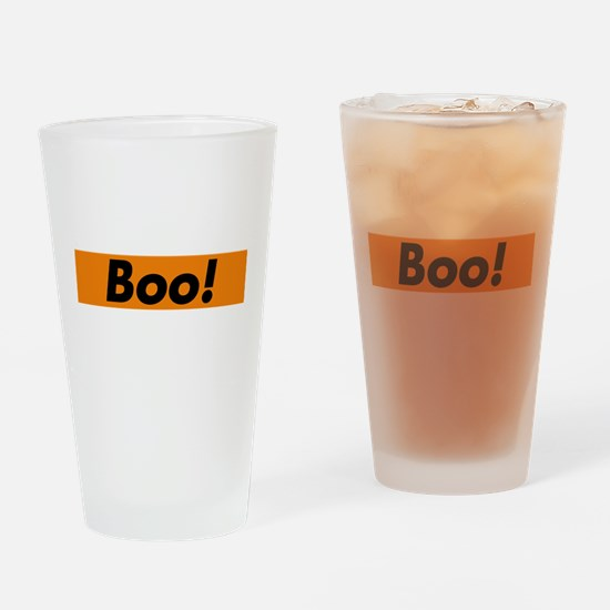 Boo! typography design for Halloween Drinking Glas