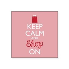Keep Calm and Shop On Sticker