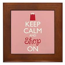 Keep Calm And Shop On Framed Tile