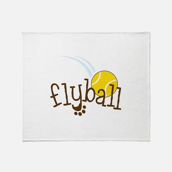 Flyball Throw Blanket