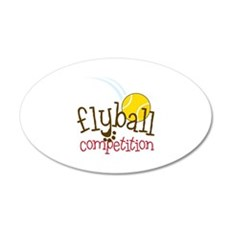 Flyball Competition Wall Decal
