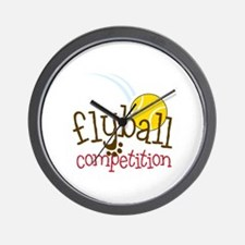 Flyball Competition Wall Clock