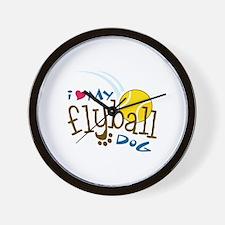 I Love My Flyball Dog Wall Clock
