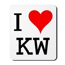 I Love KW Mousepad
