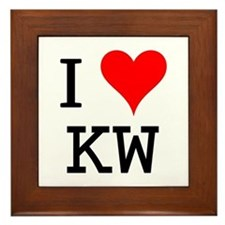 I Love KW Framed Tile
