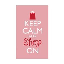 Keep Calm And Shop On Decal