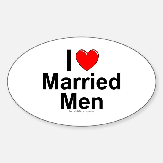 Married Men Sticker (Oval)