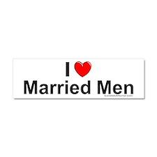 Married Men Car Magnet 10 x 3