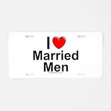 Married Men Aluminum License Plate