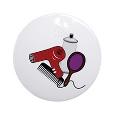 Hair Tools Ornament (Round)