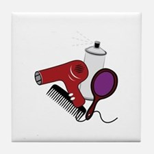 Hair Tools Tile Coaster