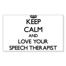 Keep Calm and Love your Speech Therapist Decal
