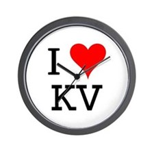 I Love KV Wall Clock