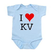 I Love KV Infant Bodysuit