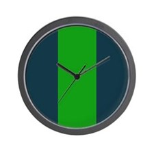 Blue and Green Vertical Lines Wall Clock
