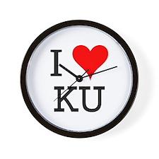 I Love KU Wall Clock