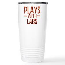 Funny Labrador playing Travel Mug