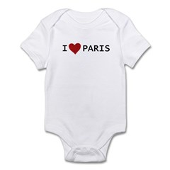 I LOVE PARIS Infant Bodysuit