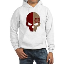 Poland Flag Skull Hoodie