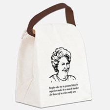 Hyacinth Superior Canvas Lunch Bag