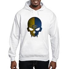 Ukraine Flag Skull Hoodie