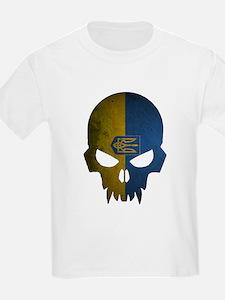 Ukraine Flag Skull T-Shirt