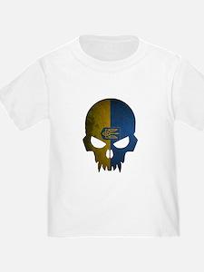 Ukraine Flag Skull T