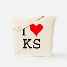 I Love KS Tote Bag