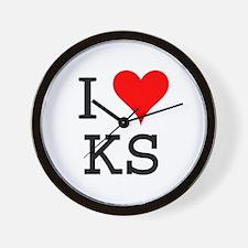 I Love KS Wall Clock