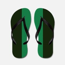 Dark Green Lines Flip Flops
