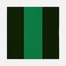 Dark Green Lines Queen Duvet