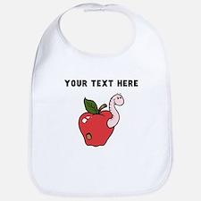 Custom Worm In Apple Bib