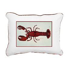 Lobster Sideways Rectangular Canvas Pillow