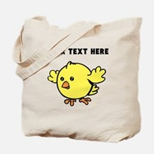 Custom Yellow Chick Tote Bag